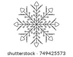 snowflake use for christmas | Shutterstock .eps vector #749425573