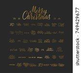 merry christmas brush lettering ...   Shutterstock .eps vector #749429677