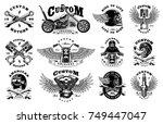 set of vintage custom... | Shutterstock . vector #749447047