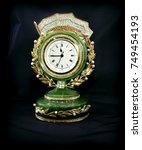 decorative table clock. clock... | Shutterstock . vector #749454193