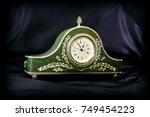 decorative table clock. clock... | Shutterstock . vector #749454223