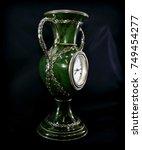vintage luxury stone wall clock ... | Shutterstock . vector #749454277