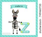 letter z lowercase cute... | Shutterstock .eps vector #749460733