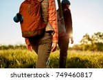 two fit young women on an early ... | Shutterstock . vector #749460817