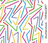 background pattern with straws... | Shutterstock .eps vector #749461897
