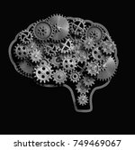 brain made from metal gears and ...   Shutterstock . vector #749469067