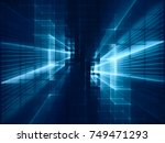 abstract blue toned background... | Shutterstock . vector #749471293