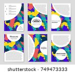 abstract vector layout... | Shutterstock .eps vector #749473333