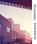 under the brooklyn bridge at...   Shutterstock . vector #749475733