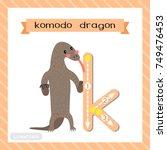 letter k lowercase cute... | Shutterstock .eps vector #749476453