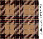 tan and black scottish woven... | Shutterstock .eps vector #749478253