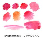 abstract watercolor in red... | Shutterstock . vector #749479777