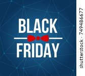 abstract vector black friday... | Shutterstock .eps vector #749486677