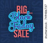 abstract vector black friday... | Shutterstock .eps vector #749486737