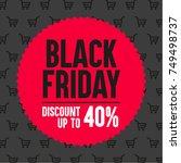 black friday promotional banner.... | Shutterstock .eps vector #749498737