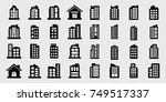 company icons  building vector... | Shutterstock .eps vector #749517337
