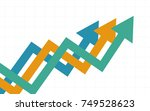 abstract business chart with... | Shutterstock .eps vector #749528623