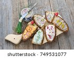 hearty snack with different... | Shutterstock . vector #749531077