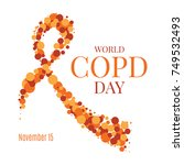 world copd day poster with an... | Shutterstock .eps vector #749532493