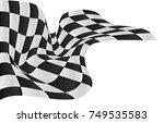 checkered flag background... | Shutterstock .eps vector #749535583