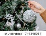 christmas tree  christmas... | Shutterstock . vector #749545057