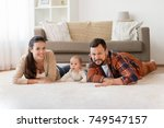 family  parenthood and people... | Shutterstock . vector #749547157