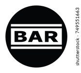 bar black and white vector... | Shutterstock .eps vector #749551663
