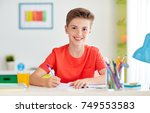 education  childhood and people ... | Shutterstock . vector #749553583