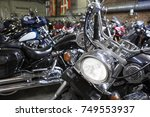 motorcycle headlight close up... | Shutterstock . vector #749553937