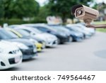 cctv security camera on blur... | Shutterstock . vector #749564467