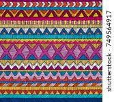embroidered seamless geometric... | Shutterstock .eps vector #749564917