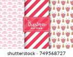 seamless christmas patterns....   Shutterstock .eps vector #749568727