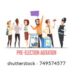 pre election canvassing... | Shutterstock .eps vector #749574577