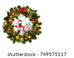 christmas decoration border... | Shutterstock . vector #749575117