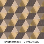 formal polygon striped seamless ... | Shutterstock .eps vector #749607607