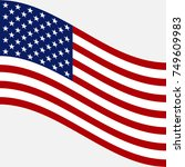 flag of usa. vector image of... | Shutterstock .eps vector #749609983