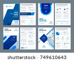 blue brochures annual reports... | Shutterstock .eps vector #749610643