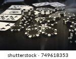 black and white poker set....   Shutterstock . vector #749618353