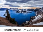 Dusk On Crater Lake  Crater...