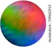 rainbow gradient circle art