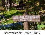 help prevent erosion sign... | Shutterstock . vector #749624047