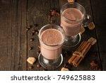 chocolate  coffee  milk  banana ... | Shutterstock . vector #749625883