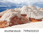 white pocket  vermilion cliffs ... | Shutterstock . vector #749631013