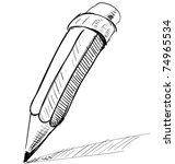 Pencil Sketch Cartoon Vector...