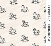 vector seamless pattern. pen... | Shutterstock .eps vector #749656657