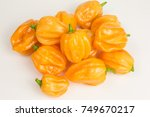 Small photo of chili pepper habaneros which are very hot and rated 100,000 to 350,000 on the Scoville scale