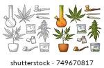 Set Marijuana. Cigarettes  Pip...