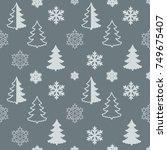vector christmas pattern...   Shutterstock .eps vector #749675407