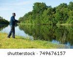 Hobby Fisherman With The Rod I...
