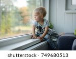 little  lost in thoughts  ... | Shutterstock . vector #749680513